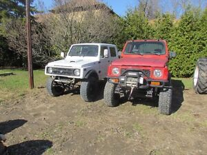 Suzuki samurai x3 + un lot de pieces