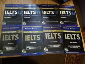 IELTS CAMBRIDGE BOOK With CD ( 1 to 13 ) . Brand New