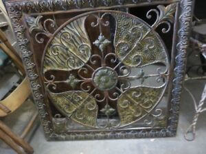 METAL WALL HANGING DISPLAY ART GOOD CONDITION ASKING $35 OR BEST