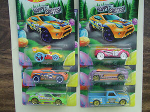 2015 HOTWHEELS - EASTER SET COMPLETE SET OF 6 NEW
