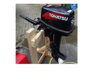 Tohatsu 9.8hp outboard motor boat dinghy inflatable rib tender engine