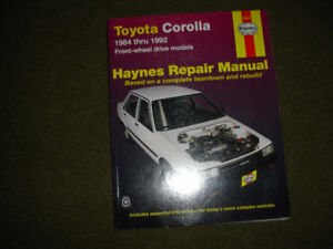 Selling Haynes Repair Manual for 1984-1992 Toyota Corolla