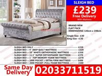 **BRAND NEW DOUBLE SLEIGH BED SET IN CHEAPER PRICE/COMPETITION TIME/LOW PRICE** Milford