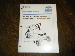 Ford R8 and R12 Rider Mowers  Tractors Operators Manual