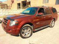 2007 Ford Expedition LIMITED VUS DVD cuir toit extra propre