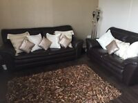 Real leather 2&3 seater