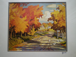 """Full Signature  A.J.Casson """"Country Road"""" Print Kitchener / Waterloo Kitchener Area image 8"""