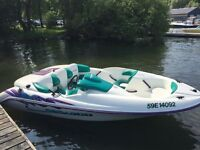 1996 SeaDoo Chalanger with trailer