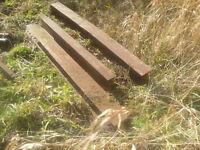 3 steel beams