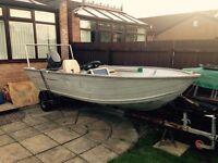 Aluminium fishing boat 20hp and 4hp Yamaha's