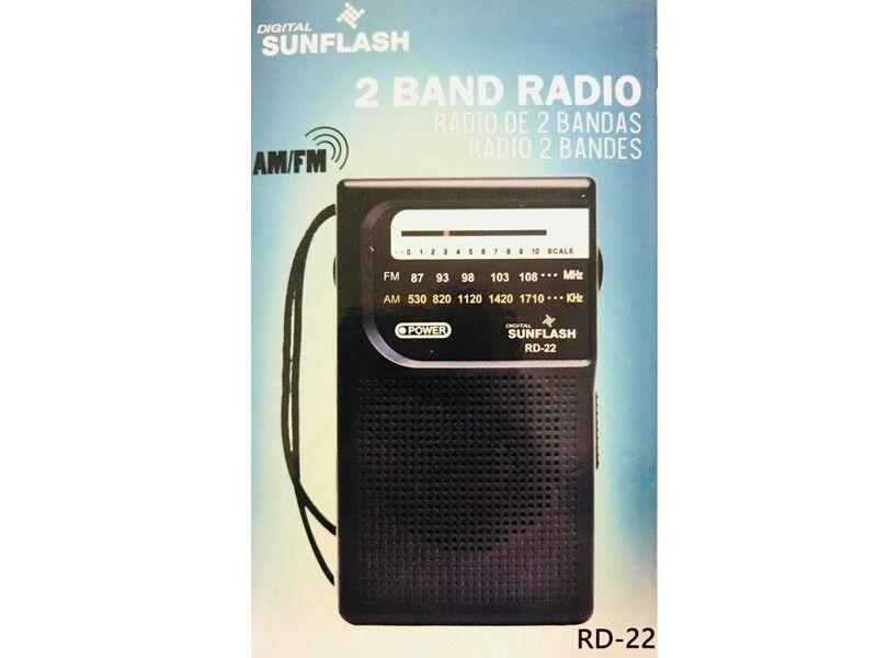 New NAXA Portable AM//FM Mini Pocket Radio with Built-In Speaker