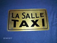 UNIQUE & COLLECTIBLE LA SALLE TAXI LICENSE PLATE-METAL-1980S