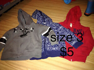 Boys size 3 sweaters