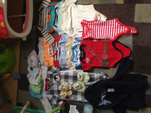 Baby boy and girl clothes various sizes