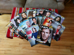 16 Assorted Cineplex Collectable Magazines