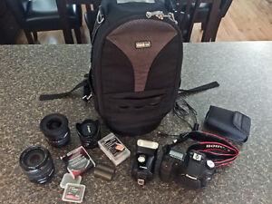 Canon 50D Camera, 3 lenses, flash and accessories!