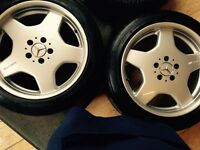 "Genuine Mercedes Benz AMG DISH alloys 18"" with 4 tyres"