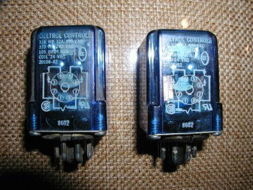 Deltrol 8 pin relay 20108-82 (24vac,10Amp) Quantity of 2