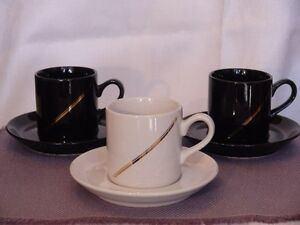 Cappuccino Cups and Saucers (3)