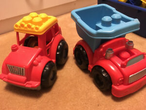 Mega blocks and cars