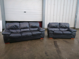 Real Brown leather 3+2 seater sofas couches suite 🚚🚚
