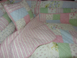 baby quilt bumper and pillow