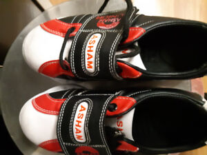 Curling shoes.