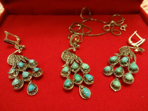 Turquoise Gem Stone Set for Sale