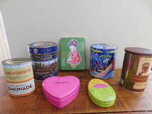 7 International Tin Boxes