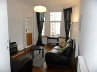 Bright and spacious 1-bedroom furnished flat in Glasgow's West End, near Byres Road