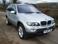 2006 06 Plate (Jue) BMW X5 3.0d auto Sport In Silver , Sat Nav , Black Leather