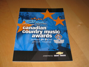 2002 Canadian Country Music Awards Official Program