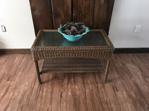 Indoor/Outdoor Wicker Coffee Table (Martha Stewart Living)