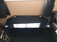 Glass tv unit £15 good condition just needs a clean