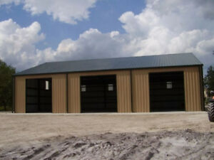 Straight Wall Steel Barns, Storage, Garages - End of Season Sale