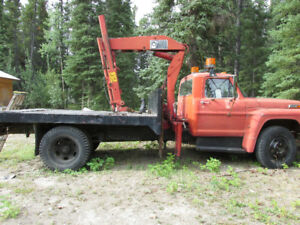 1973 Ford 5 ton truck w/flatdeck and Hiab