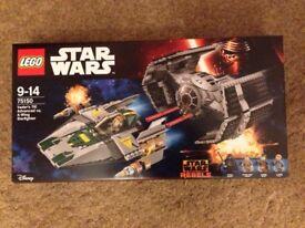 Lego Star Wars A-Wing vs TIE Advanced New