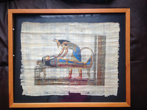 Cool Egytian Art Piece with IKEA 40x50cm wood photo frame