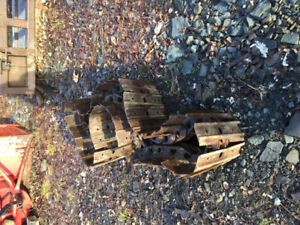 Used steel tracks to fit KX121-3 Kubota