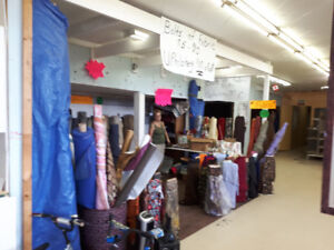 bolts of fabric from $5-$10 per roll