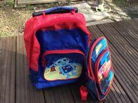 Cars rucksack and travel bag