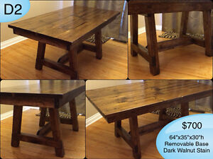 CUSTOM SOLID WOOD RUSTIC DINING TABLES, BENCHES AND MORE Kingston Kingston Area image 2