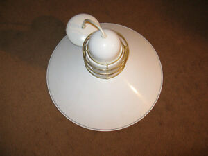 White and Brass Accent Hanging Lamp Edmonton Edmonton Area image 2