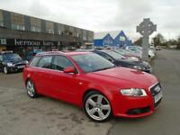 2007 (07) AUDI A4 1.9 TDi S LINE AVANT ESTATE Manual Red Climate Leather FSH