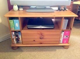 Pine wood TV corner unit.