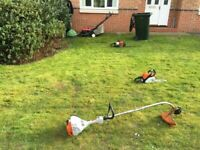 Grass cutting hedge trimming lawn mowing tree surgery landscaping turf laying fencing decking