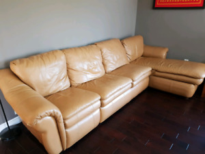 Lazy Boy Sectional Leather Recliner  Sofa Bed