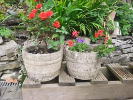 Pair of stone pots