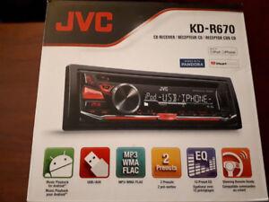 Car Stereo - JVC KD-R670 - Brand New