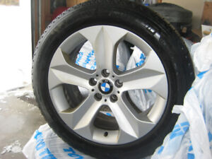 255/50R19 Michelin latitude X ice winter tires with BMW alloy ri